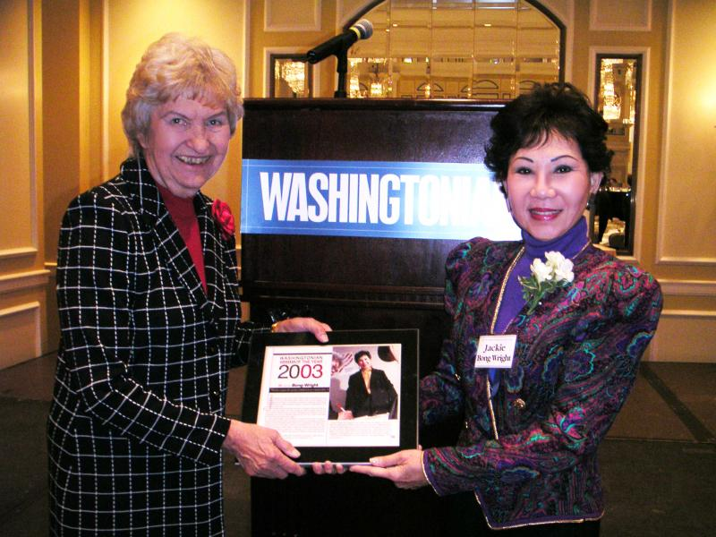 2003 – Washingtonian of the Year 2003 for community service